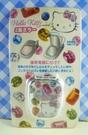 【震撼精品百貨】Hello Kitty 凱蒂貓~KITTY貼紙-雙鏡面貼紙-寶石