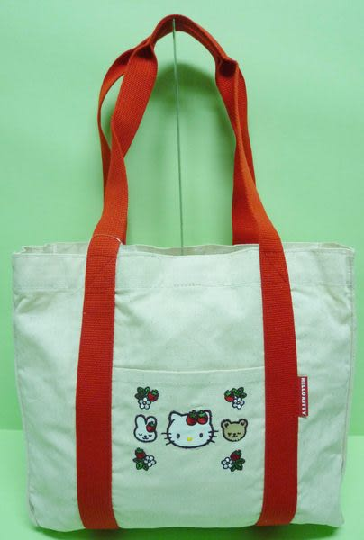 【震撼精品百貨】Hello Kitty 凱蒂貓~手提袋肩背包『環保草莓』