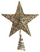 節慶王~X204199 ~18cm 樹頂星金,聖誕佈置聖誕擺飾聖誕鍍金球聖誕 聖誕