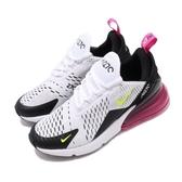 Nike 休閒鞋 Air Max 270 GS 白 黑 女鞋 大童鞋 休閒鞋 後底 增高 運動鞋【ACS】 943345-102