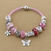 串珠手鍊-時尚甜美粉色系列琉璃飾品女配件73kc165【時尚巴黎】