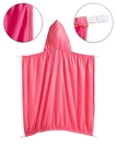 台灣現貨童裝 披被/披風 素色防風防雨,可夾在背帶外用-桃紅色【A0059】