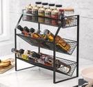 廚房置物架不銹鋼調料調味品收納架臺面調料架子多層壁掛免安裝 南風小鋪