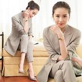 西裝兩件套 休閒時尚職業套裝女早秋正韓氣質女神風小西裝兩件套-Ballet朵朵