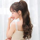 限定款假髮 韓系假髮女長捲髮大波浪綁帶式辮子蓬鬆自然隱形氣質抓夾梨花捲馬尾