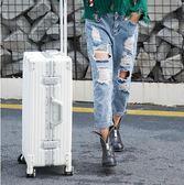 行李箱行李箱女20寸拉桿箱旅行箱萬向輪鋁框正韓男24密碼箱26復古學生29