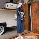 牛仔洋裝 氣質牛仔裙連身裙女秋季2020...