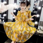 女童洋裝女童連衣裙2020新款夏裝童裝兒童網紅長裙子女孩沙灘裙雪紡公主裙【全館免運八五折】