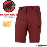【MAMMUT Runbold Shorts 女短褲/梅洛酒紅】1020-06893-6007/長毛象/透氣快乾/彈性耐磨短褲/抗UV