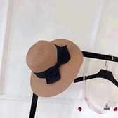 遮陽帽女防紫外線韓版沙灘大檐太陽帽可折疊復古防曬草帽【愛物及屋】