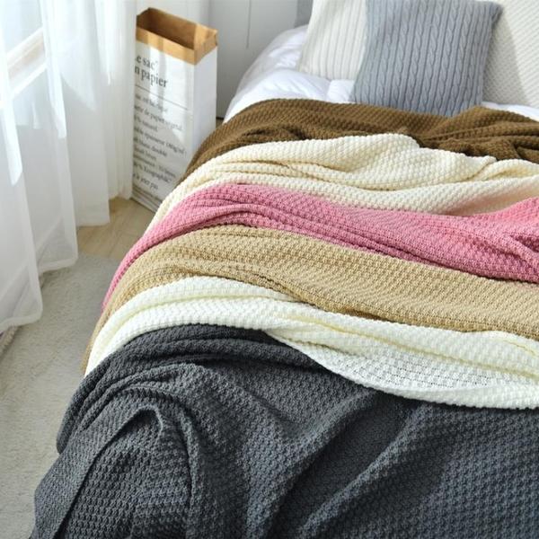 ins北歐風沙發蓋毯辦公室午睡毯子流蘇針織球毛線休閒空調小毛毯 樂活生活館