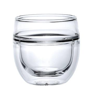 宜龍 耐熱玻璃 旭日-雙層玻璃杯(100ml)X2入 售完為止