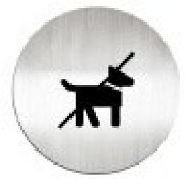 迪多deflect-o  610710C   禁止攜帶寵物-鋁質圓形貼牌 / 個