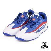 DC 新竹皇家 LEGACY 98 白/藍色 皮質 網布 拼接 休閒鞋 男款 NO.B0128
