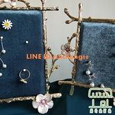 首飾架子收納架耳釘耳環架女家用歐式精致絨布飾品展示板【樹可雜貨鋪】