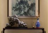 景德鎮陶瓷器創意花瓶干插花擺件中式家居裝飾品客廳擺設藍色大號