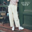 Queen Shop【04110273】休閒素色百搭抽繩寬褲 兩色售*現+預*