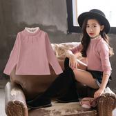 女童打底衫2020新款韓版加絨加厚高領長袖t恤秋冬款洋氣兒童上衣