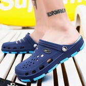 夏季 洞洞鞋韓版半拖潮鞋包頭男鞋防滑 涼鞋情侶沙灘 拖鞋室外浴室鞋 雙11低至8折