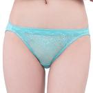 思薇爾-深V誘惑系列M-XL蕾絲低腰三角內褲(暈藍色)