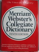 【書寶二手書T8/字典_PPB】Merriam Webster、s Collegiate Dictionary_Merriam Webster