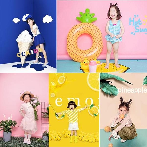 背景布 新兒童攝影背景紙 影樓主題拍攝尼克兒童簡潔時尚寶寶影樓寫真背景壁貼壁紙