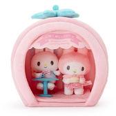 Hamee 日本正版 三麗鷗 草莓屋子 咖啡廳下午茶 玩偶擺飾 絨毛娃娃組 美樂蒂 利茲姆 禮物 318809