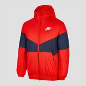 Nike NSW SYN FILL JKT [928862-634] 男款 輕量 鋪棉 保暖 連帽 外套 撞色 紅藍