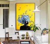 現代客廳大幅裝飾玄關飛舞蝴蝶壁畫EY1527『M&G大尺碼』