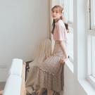 MUMU【P34613】粉花三層碎花雪紡...