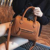 2018冬季新款正韓復古波士頓女包枕頭包時尚手提包單肩斜挎小包包