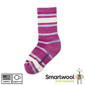【SmartWool 美國 童健行輕量避震條紋中長襪《粉霧紫》】SW001212/排汗襪/保暖襪/運動襪/兒童襪