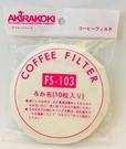 金時代書香咖啡 AKIRA FS-103  虹吸咖啡壺濾布  1包/10入 FS-103