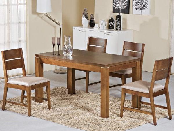 餐桌 AM-236-3 貝爾柚木餐桌 (不含椅子)【大眾家居舘】
