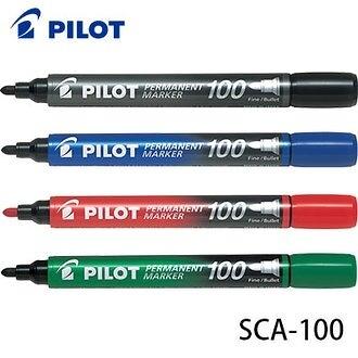 買一盒送一盒 日本 PILOT 百樂 SCA-100 圓頭 Permanent Marker 油性麥克筆 12支入 /盒