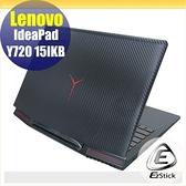 【Ezstick】Lenovo IdeaPad Y720 15 IKB 黑色機身貼 (含上蓋貼、鍵盤週圍貼) DIY包膜