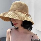 遮陽帽 防曬遮陽漁夫帽百搭太陽帽沙灘