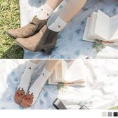 《ZB0515》韓國圓滾滾眼睛聖誕中筒長襪  OrangeBear