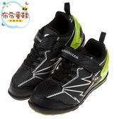 《布布童鞋》Moonstar日本究極強黑色閃電兒童運動機能鞋(17~24公分) [ I8Q636D ]
