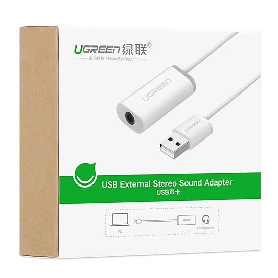 [哈GAME族]免運費 可刷卡 綠聯 30712 USB聲卡 音效卡 USB 轉 3.5mm 二合一 三環耳機 可支援 PS4 PC
