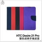HTC Desire 21 Pro 雙色經典手機皮套 保護套 保護殼 手機殼 防摔殼 支架 附卡夾