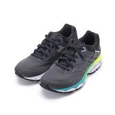 MIZUNO WAVE INSPIRE 16 慢跑鞋 炭藍黑 J1GD204434 女鞋
