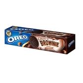 奧利奧OREO巧克力布朗尼口味夾心餅乾154g【愛買】
