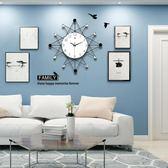 掛鐘/時鐘-北歐創意鐘表掛鐘客廳個性時尚現代簡約時鐘靜音家用掛表歐式藝術  YYS 東川崎町