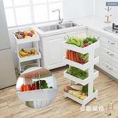 多層置物架 廚房移動置物架帶輪臥室書架多功能層架推車果蔬儲物架浴室收納架XW 全館滿千88折