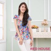 RED HOUSE-蕾赫斯-彩繪花朵雙層雪紡上衣(共2色)