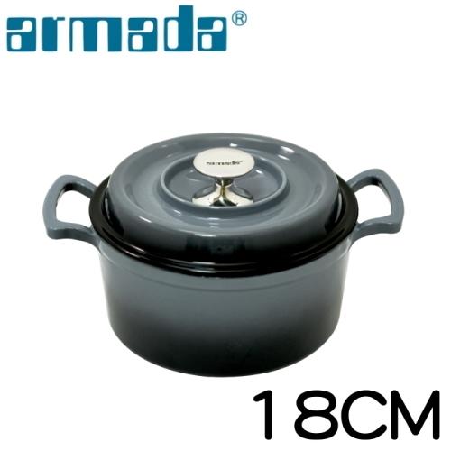 【南紡購物中心】《armada》艾麗絲琺瑯鑄鐵鍋-灰18CM