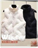 馬甲棉馬甲女冬正韓短款棉背心外套羽絨棉面包服無袖棉衣馬夾 奈斯女裝