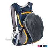 PUSH!旅遊戶外用品折疊便攜式騎行包登山包背包旅行包旅行萬用包15L U42
