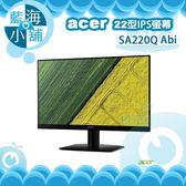acer 宏碁 SA220Q Abi 22型IPS薄邊框電腦螢幕液晶顯示器 電腦螢幕